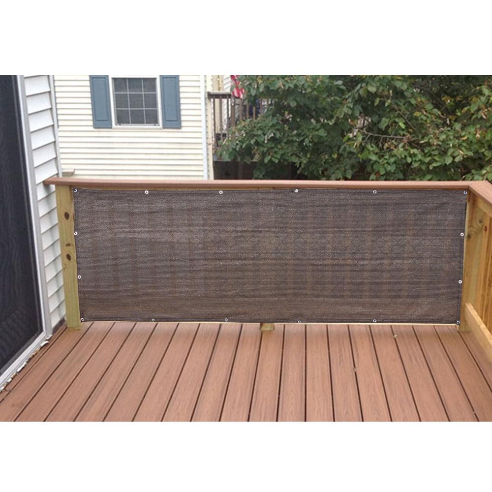 Alion Home Mocha Brown Elegant Privacy Screen For Backyard Deck, Patio, Balcony, Fence, Pool, Porch, Railing. 3' x 7'