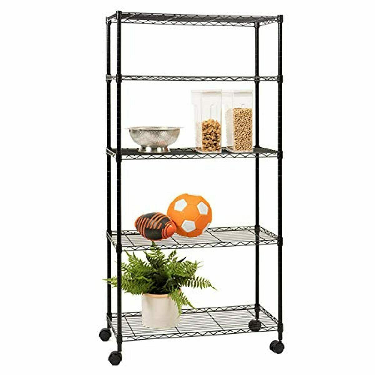 5-Tier kitchen storage shelves, Heavy Duty Height ...