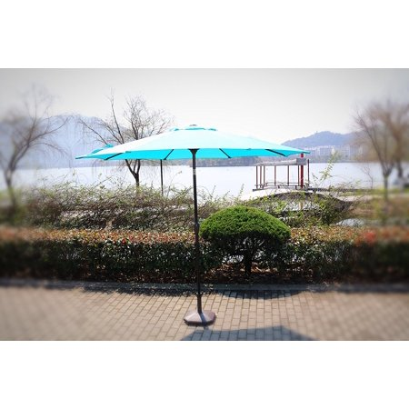 Premium Market Outdoor Patio Umbrella- TEAL BLUE (Crank & Tilt) STAND SOLD (Team Umbrella)