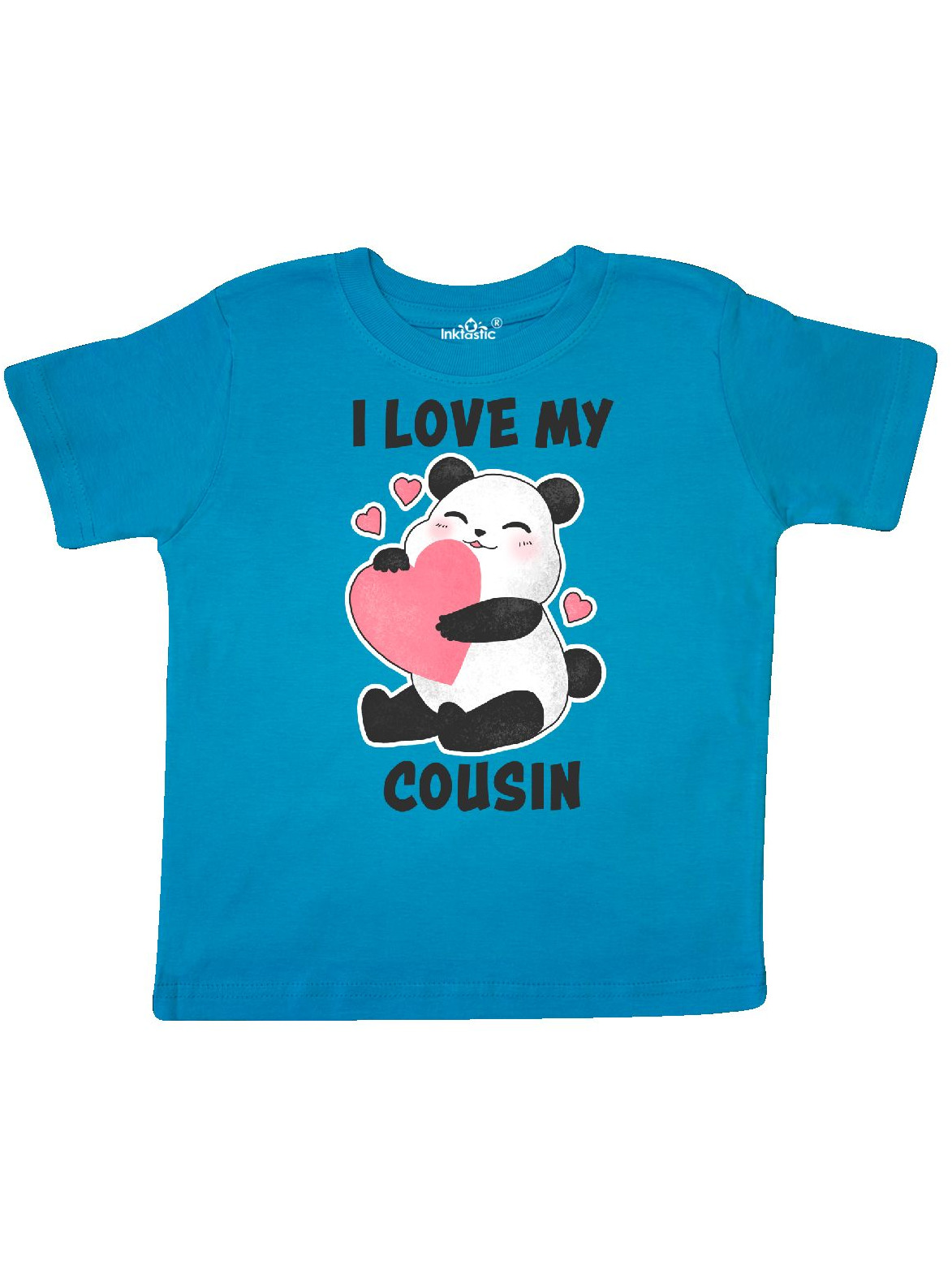 I Love My Cousin with Panda Illustration Toddler T-Shirt