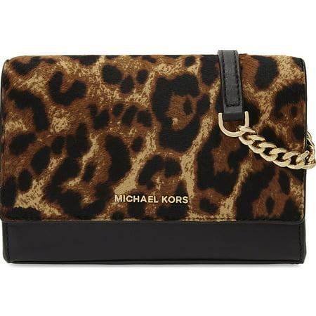 b4997a7d11b1 ... Gallery women s michael by kors lana michael kors leopard printed  handbag lock mk bag purse ...