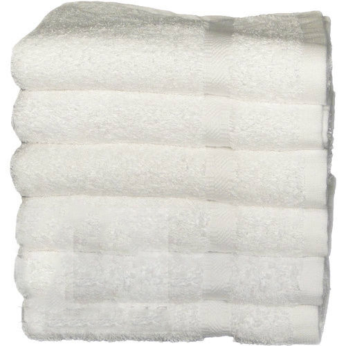 "GHP 2-Pcs Solid White 16""x30"" 100% Cotton Premium Luxurious Hotel/Home Hand Towels"