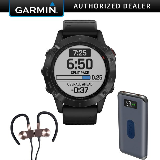 Garmin Fenix 6 PRO Multisport GPS Smartwatch + Wireless Sport Earbuds & More