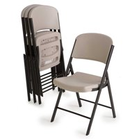 Lifetime Classic Folding Chair (4 Pack), Putty