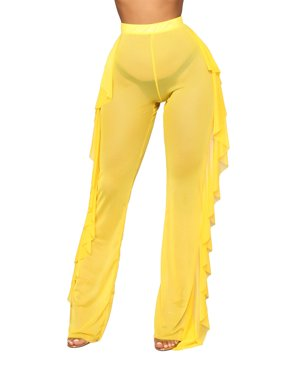 e699520611 Product Image Women Sexy See Through Sheer Mesh Ruffle Pants Perspective Swimsuit  Bikini Bottom Cover up Party Clubwear
