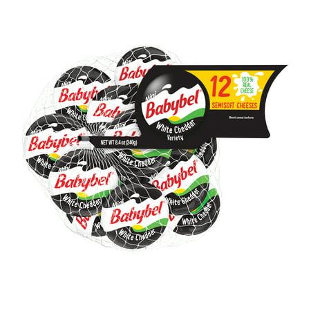 Mini Babybel White Cheddar Semisoft Cheese, 12 Count, 9 Oz by Mini Babybel
