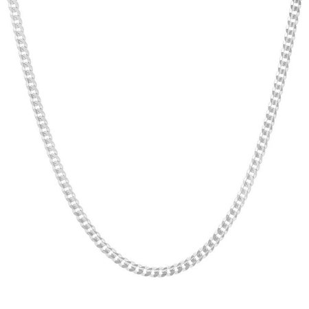"Sterling Silver Italian 2mm Miami Cuban Curb Link Thick Solid 925 Necklace Chain 16"" - 30"" for Men & Women (24)"