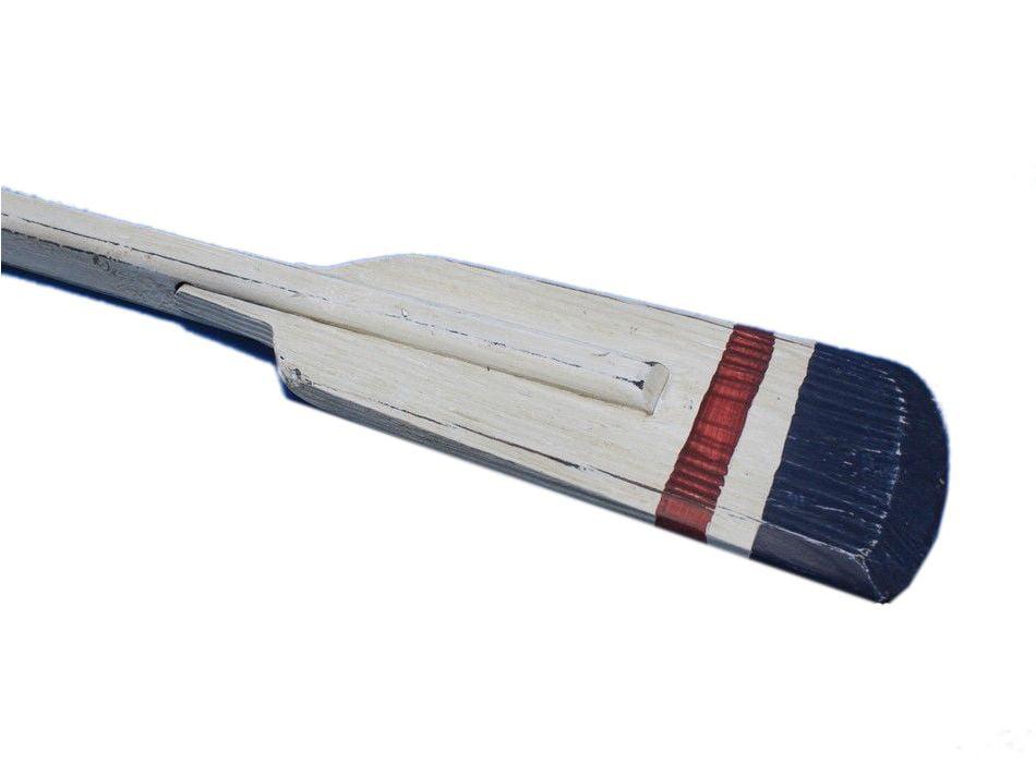 "Wooden Crawford Squared Rowing Oar w  Hooks 36"" Nautical Wall Artwork Oar Decor Beach Theme by Handcrafted Nautical Decor"