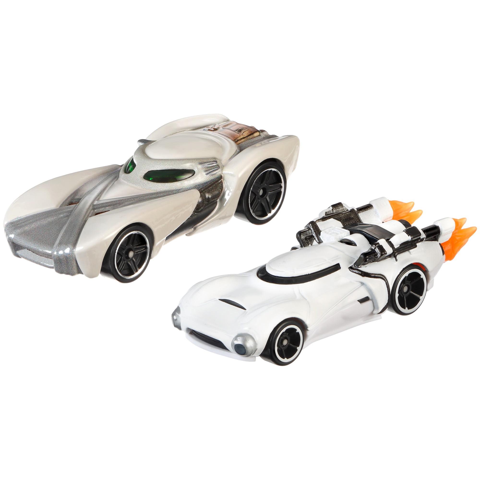 Hot Wheels Star Wars Rey Vs. First Order Flametrooper Character Car 2-Pack