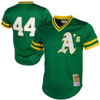 Reggie Jackson Oakland Athletics Mitchell & Ness Cooperstown Mesh Batting Practice Jersey - Green