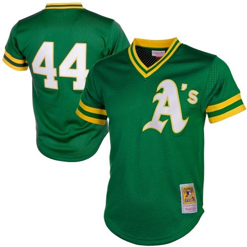 Reggie Jackson Oakland Athletics Mitchell & Ness Cooperstown Mesh Batting Practice Jersey - Green