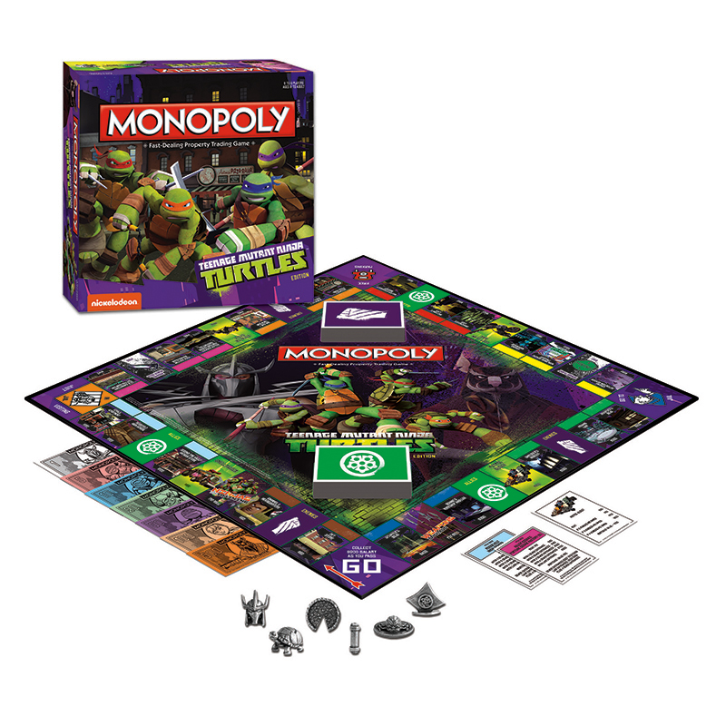 TEENAGE MUTANT NINJA TURTLES EDITION MONOPOLY