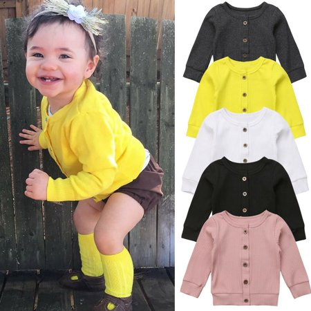 Newborn Infant Baby Girl Sweater Long Sleeves Knitted Kid Sweater Cardigan Tops Outwear Autumn Baby Girl Clothes ()