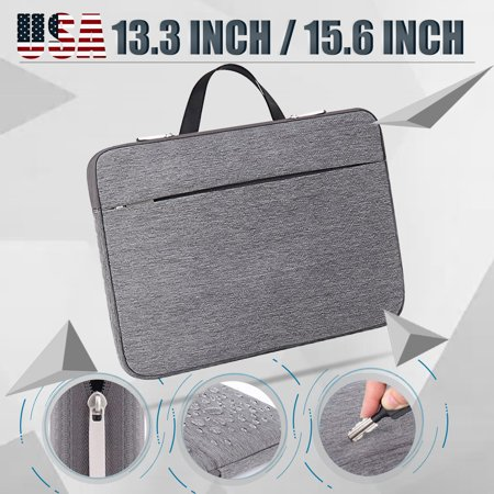 13.3 / 15.6 Inch Waterproof Thickest Protective Slim Laptop Case for HP/Asus/Dell/Lenovo Chromebook Portable Laptop Sleeve Liner Package Notebook Case Bag Soft Grey Bag Case ()