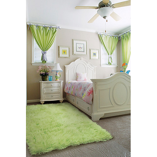 linon home decor flokati rug linon home new zealand wool flokati rug lime green 12992