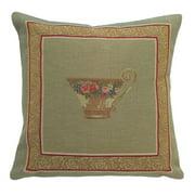 Corona Dcor Corona Decor French-woven Tea Cup Design Pillow