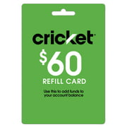 Cricket Refill $60 (Email Delivery)
