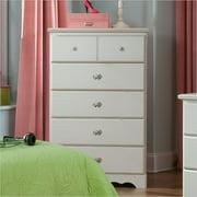 Standard Furniture Daphne 5 Drawer Chest In White