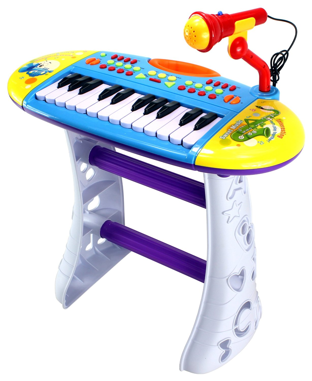 Velocity Toys Portable Fun Piano Children's Musical Instrument Toy Keyboard Playset, 24... by Velocity Toys