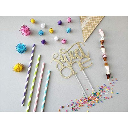 CMS Design Studio Sweet One Cake Topper - Ice Cream Party Theme Party - Dessert Birthday Party - Sweet one Birthday Décor - Sweet One Party - Sweet 15 Themes
