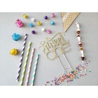 CMS Design Studio Sweet One Cake Topper - Ice Cream Party Theme Party - Dessert Birthday Party - Sweet one Birthday Décor - Sweet One Party Decor