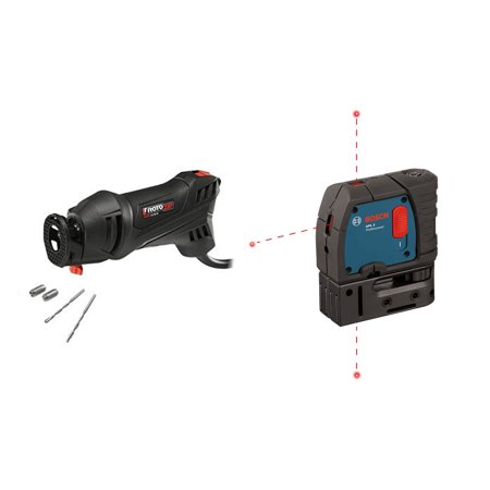 RotoZip 5.5 Amp RotoSaw & Bosch 3 Point Alignment Laser (Certified Refurbished)