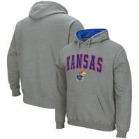 Kansas Jayhawks Colosseum Arch & Logo Pullover Hoodie - Heathered Gray