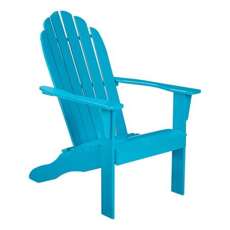 Mainstays Rubberwood Adirondack Chair - Turquoise
