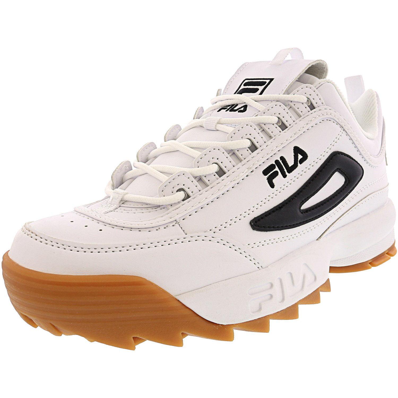 Fila Fila Men's Disruptor Ii White Black Ankle High Walking Shoe 10M