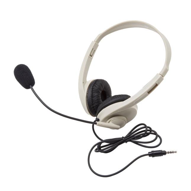Califone 3064AV-T Multimedia Stereo Headset with Mic, 3.5mm To-Go Plug