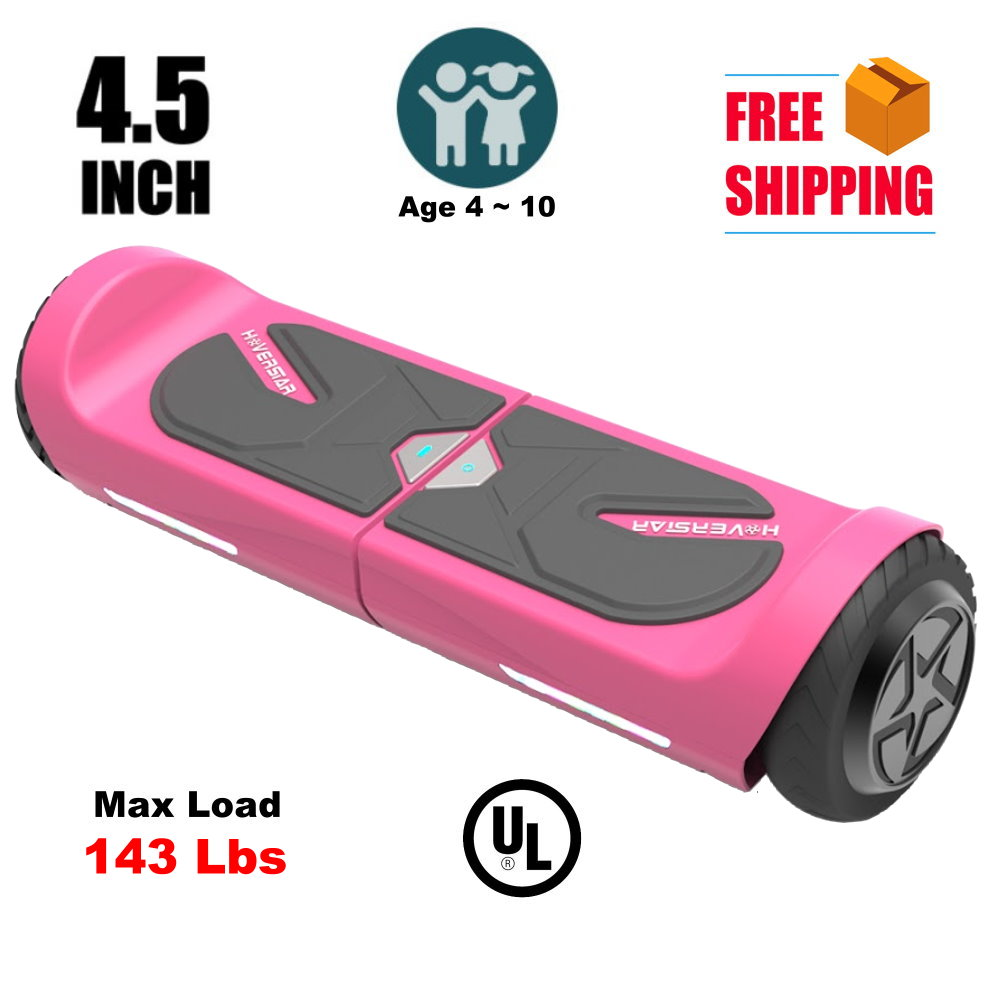 "HOVERSTAR Hoverboard Kids' 4.5"" Two-Wheel Self Balancing Electric Scooter UL 2272 Certified Pink"