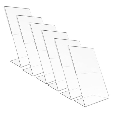 """Acrylic Photo Holders - Victory Light (6 pack) Vertical 8x10"""" Acrylic Document Menu Holder Photo Frames Sign Holder Sign Display Home Office"""