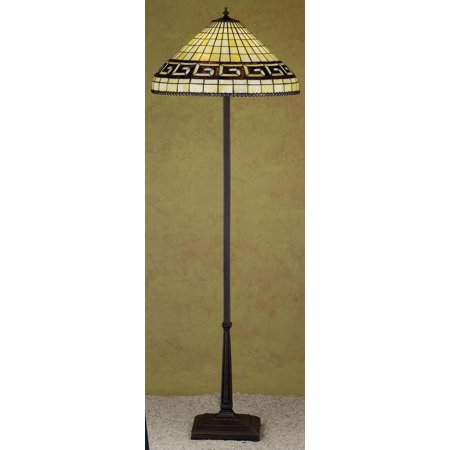 Meyda Tiffany 29503 Stained Glass / Tiffany Floor Lamp from the Greek Key Collection ()