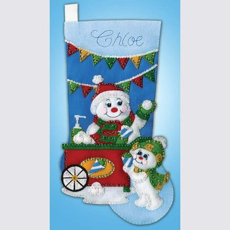 Design Works™ Snow Cone Snowman Stocking Stocking (Stocking Kit Snow)