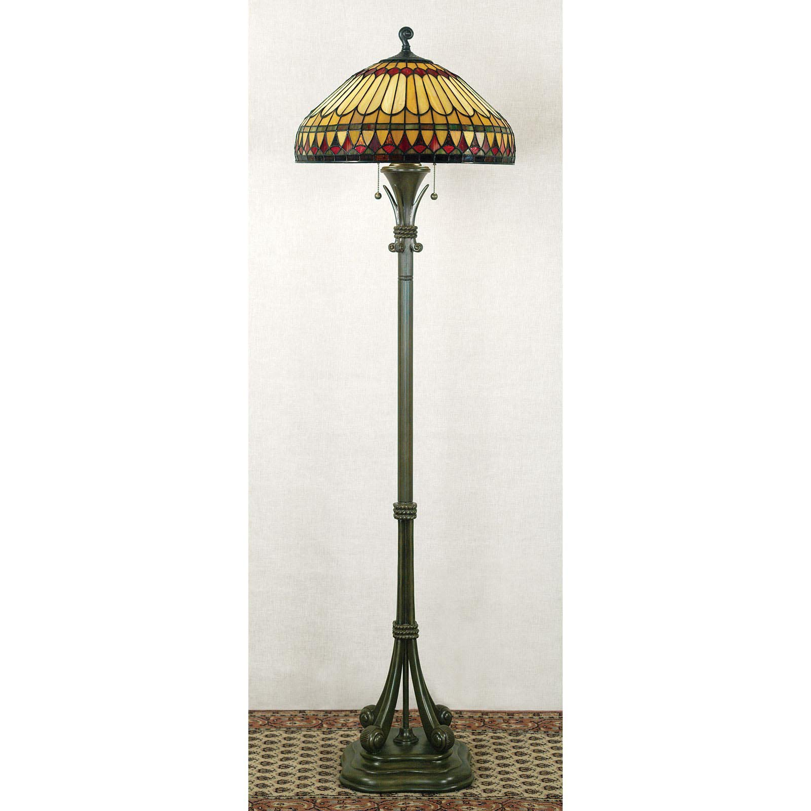 Quoizel West End Tf9320bb Tiffany Floor Lamp