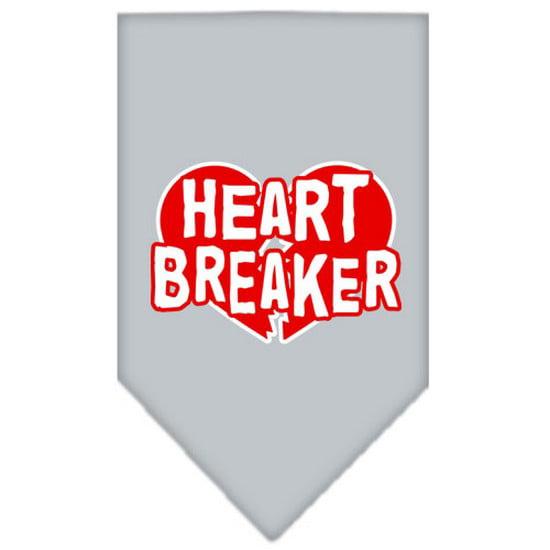 Mirage 66-29 LGGY Heart Breaker Screen Print Pet Bandana Grey Large