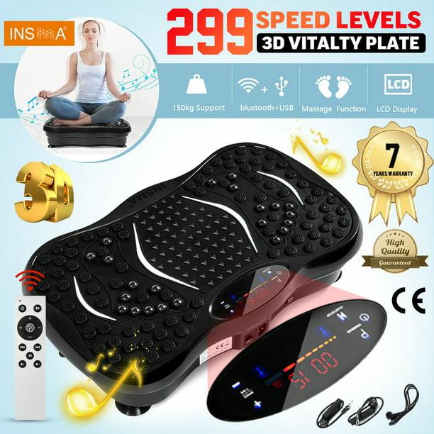 Details about  /Vibration Platform Plate Whole Body Exercise Fitness Massager Machine Slim Black