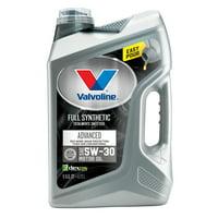 (6 Pack) Valvoline Advanced Full Synthetic SAE 5W-30 Motor Oil - Easy Pour 5 Quart
