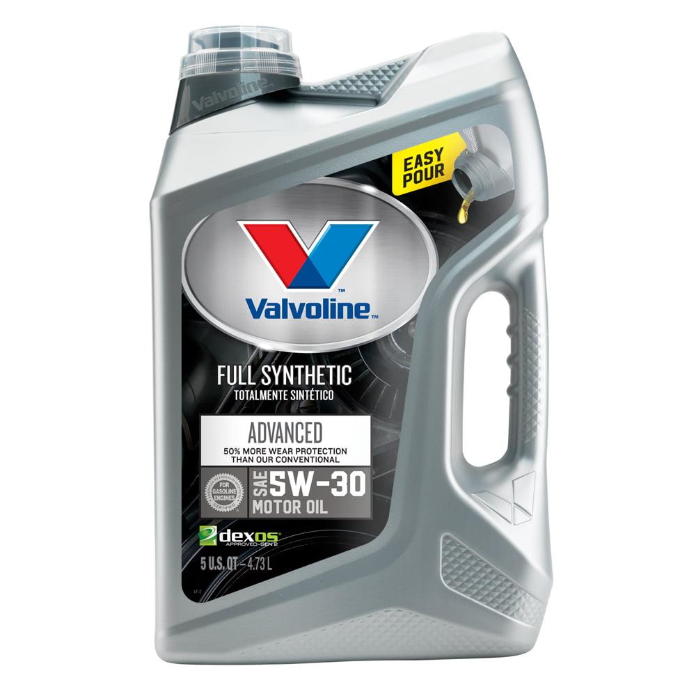 Valvoline™ Advanced Full Synthetic SAE 5W-30 Motor Oil - Easy Pour 5 Quart