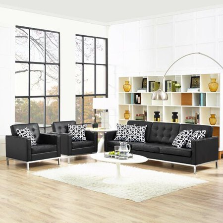 Superb Orren Ellis Gayatri 3 Piece Leather Living Room Set Home Interior And Landscaping Mentranervesignezvosmurscom