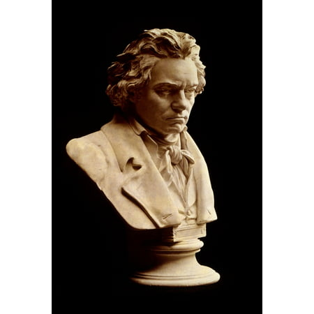 LAMINATED POSTER Bust Head Man Ludwig Van Beethoven Composer Poster Print 24 x 36 Beethoven Ludwig Van Bust