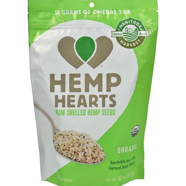 Manitoba Harvest Certified Organic Hemp Hearts Shelled Hemp Seed - 12 Oz