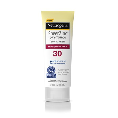 Mineral Sunblock (Neutrogena Sheer Zinc Dry-Touch Sunscreen Lotion with SPF 30, 3 fl. oz )
