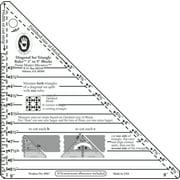 "Small Diagonal Set Triangle Ruler-3"" To 9"" Blocks"