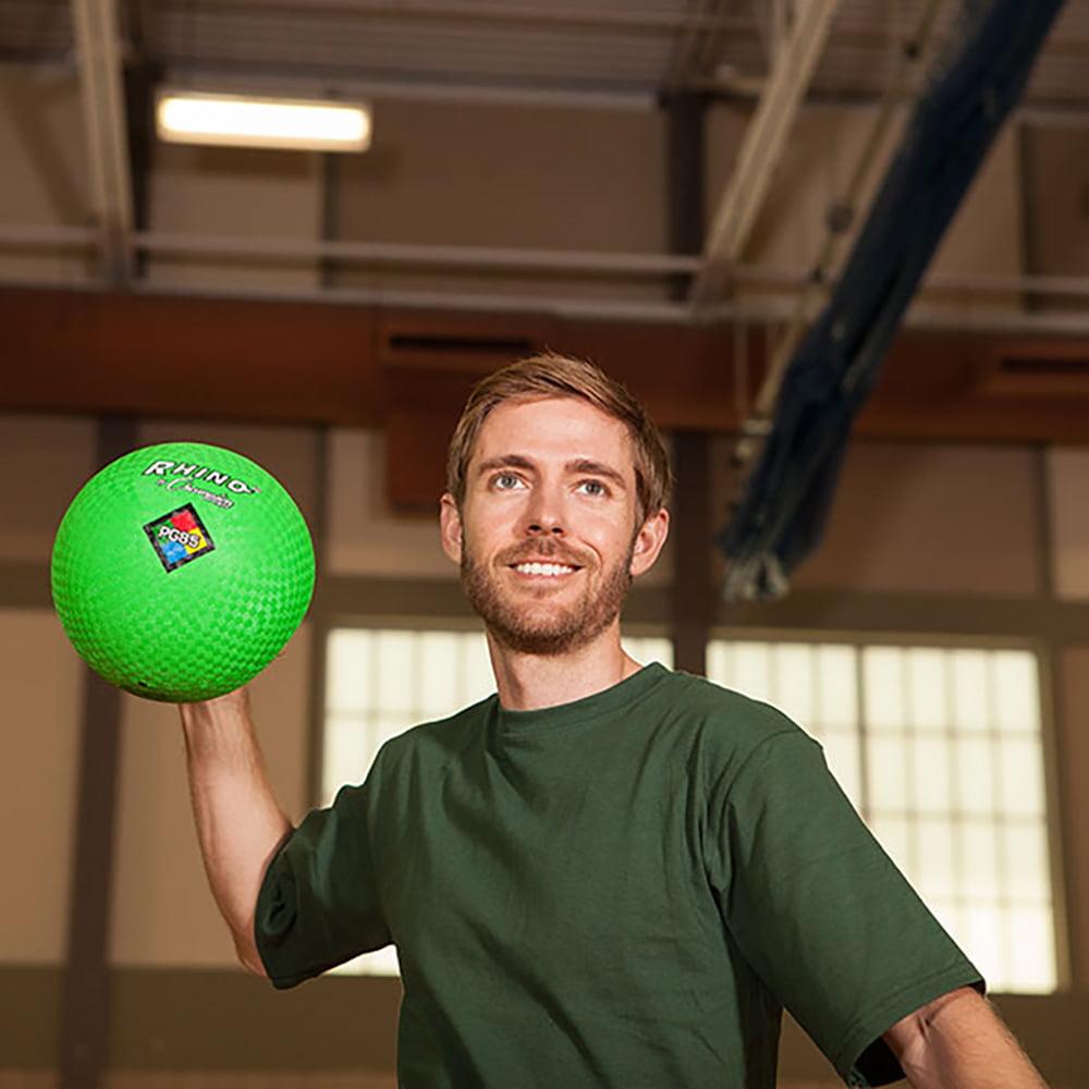 "Green Champion Sports Playground Gym Dodgeball Kickball 8.5/"" Nylon 2-ply Ball"