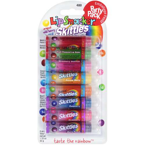 Bonne Bell Original/Wild Berry/Tropical Skittles Lip Smacker Lip Gloss Party Pack, 480