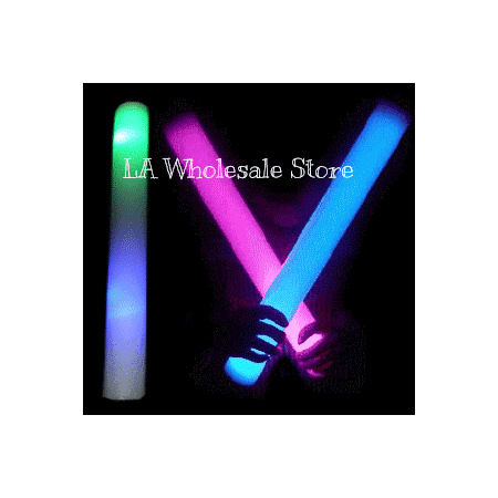 LA Wholesale Store 12 LED Light Up Baton Foam Sticks FREE Temporary Body Tattoo!!!