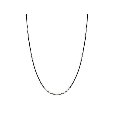 - Sterling Silver Oxidized Square Box Chain Necklace
