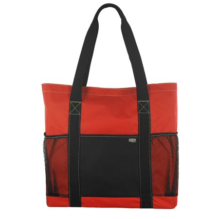 Metro Shoulder Tote with Pockets and Velcro Top Closure Top Hobo Purse