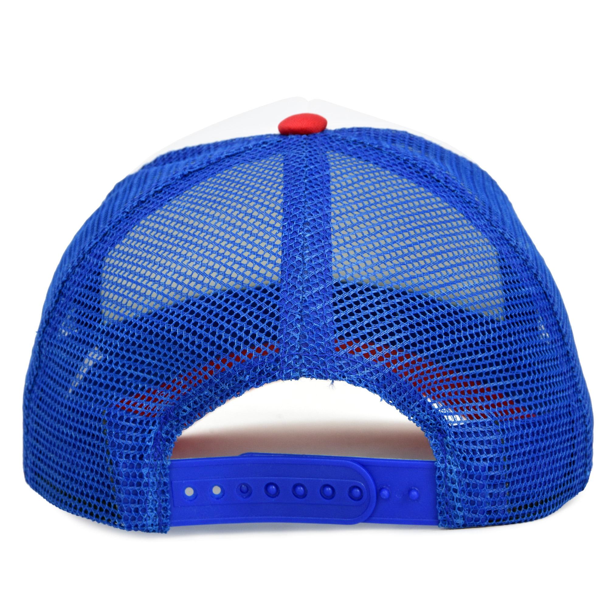 TCJX How to Pick Up Chicks Mesh Baseball Cap Girls Adjustable Trucker Hat Sky Blue